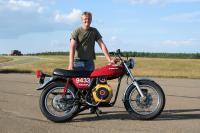 Нов рекорд с мотоциклет на растително масло